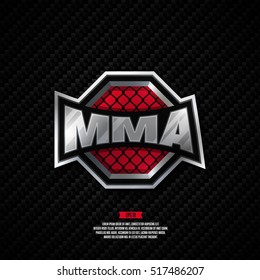Modern professional mixed martial arts logo design. MMA sign.
