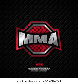 Modern professional mixed martial arts logo design. MMA sign.