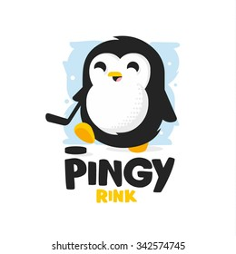 Modern professional penguin logo for a kids ice rink