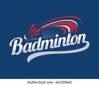 Modern Professional Sports Badge Logo - The Badminton Club