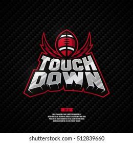Modern professional touch down logo. American football logo.