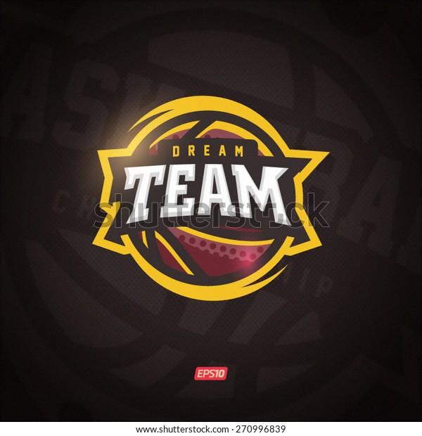 Modern professional vector Dream team logo for a basketball team