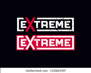 Modern professional vector emblem extreme in black theme