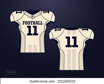 modern professional vector jersey player american football