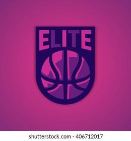Modern professional vector logo for a basketball team.