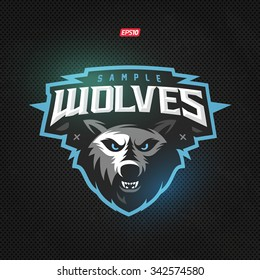 Modern professional wolf logo for a sport team