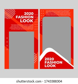 Modern promotional fashion web banners for social media mobile applications