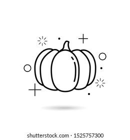 Modern pumpkin icon, great design for any purposes.