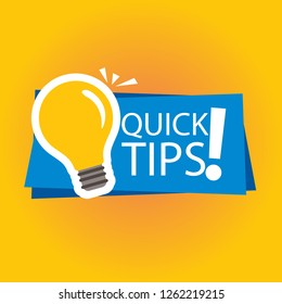 Modern quick tips composition with flat design- Vector illustration