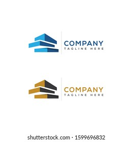 Modern Real Estate company Logo Design. Building, Construction Working Industry logo concept Icon. Residential contractor, General Contractor and Commercial Office Property business logos.