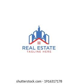 Modern real estate logo design template