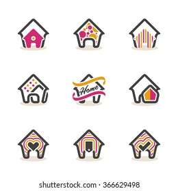 Modern Real Estate Sign Home Vector Design Symbol House Vector Icon. EPS10