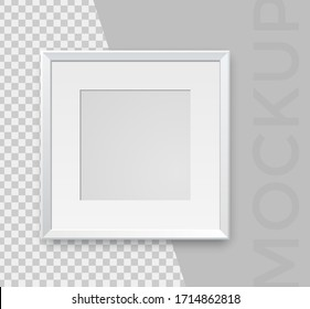 Modern realistic empty white frames on a white background