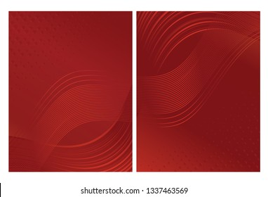 Modern red abstract background design  made of flowing wavy lines and shapes. Jpg and Vector illustration, editable can be used on promotional materials like brochures or posters.