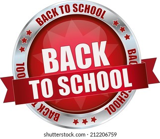 modern red back to school sign