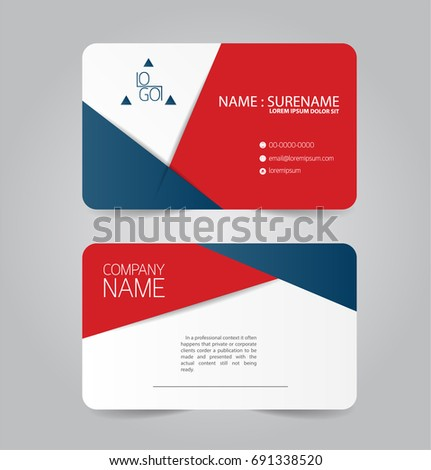 Modern red blue business name card stock vector royalty free modern red and blue business name card template design friedricerecipe Gallery