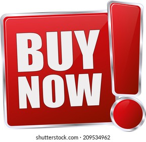 modern red buy now button