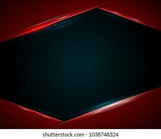 Modern red dark background. Vector illustration.