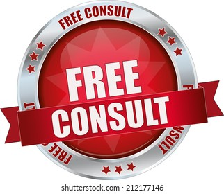 modern red free consult sign