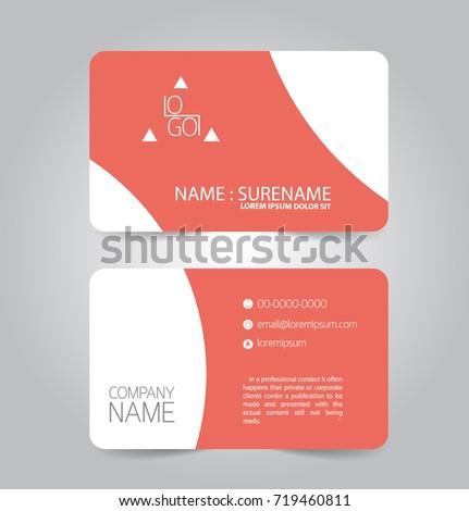 Modern red orange business name card stock vector royalty free modern red and orange business name card template design friedricerecipe Images