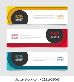 Modern Red,Orange and Blue color banner design. Web banner template vector design.