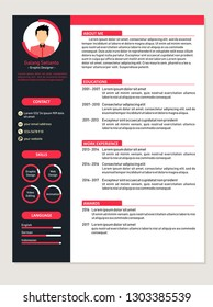 Modern Resume Template Vector for jobs applications