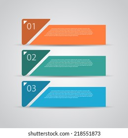 Modern retro design template / numbered banners