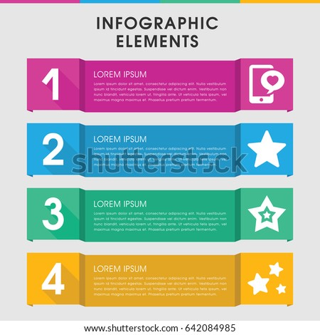 modern review infographic template infographic design stock vector