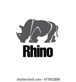 Modern Rhino silhouette logo design in vector eps format