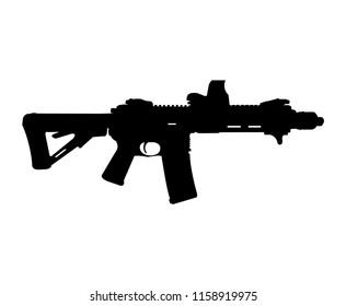 Modern rifle silhouette