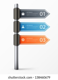 Modern road sign design template for infographics, sign banners, graphic or website layout. eps10 vector illustration