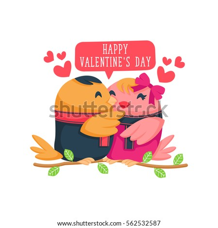 Modern Romantic Happy Valentine Card Suitable For Invitation Web Banner Social Media