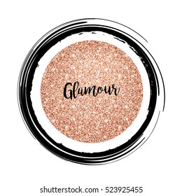 Modern Rose Gold Background. Glamour sign. Vector template