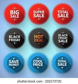 Modern round sale badges. EPS10.