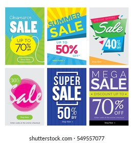 Modern Sale Banner Set, Suitable For Call To Action Button, Advertisement, E-newsletter, Web Banners, Posters and Social Media Promotions