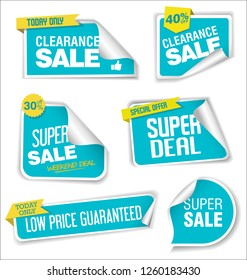 Modern sale banners and labels collection