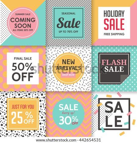 modern sale banners template social media のベクター画像素材