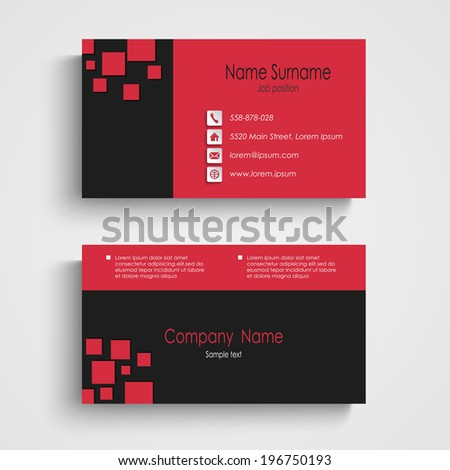 Modern sample business card template stock vector royalty free modern sample business card template flashek Images