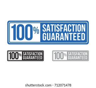 modern satisfaction guaranteed seal. label. blue. vector. set.