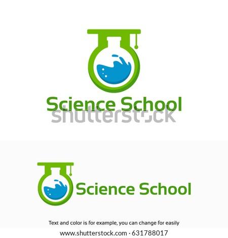 Modern Science Logo Designs Modern Science Stock Vector Royalty