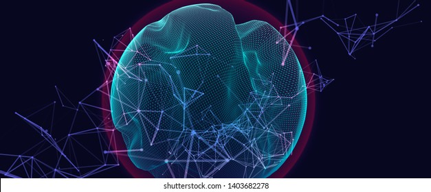 Modern science and technology background. Abstract sphere.