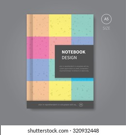 modern scrapbook background template for brochure or magazine / notebook design in pastel colors