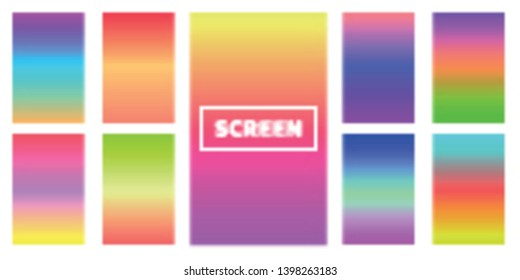 Modern screen vector design for mobile app. Soft color gradients.