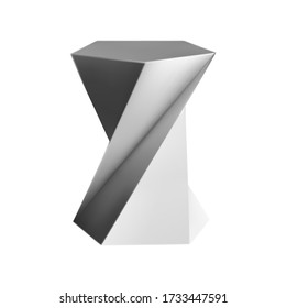 Modern sculptures isolated on white background. Vector illustration.