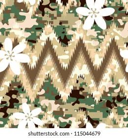 Modern seamless chevron camouflage pattern background