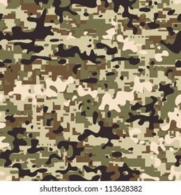 Modern seamless digital multi terrain pattern camouflage