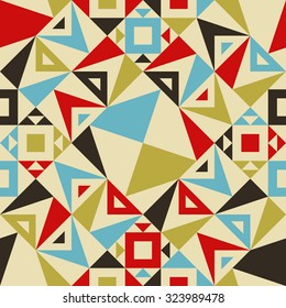 Modern Seamless Triangle Pattern for Textile Design. Vector Background. Geometric Abstract Texture