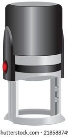 Modern self ink rubber stamp. Vector illustration.