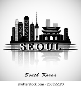Modern Seoul City Skyline Design