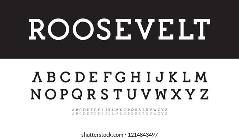 Modern serif alphabet. Bold, regular, thin vector typeset. New classic font template. Geometric simple characters with serifs. Vectors.